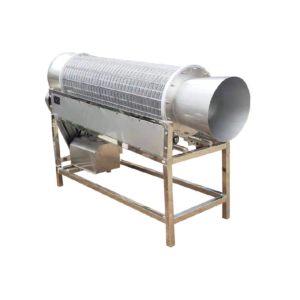 Head and tail removing machine of kidney bean